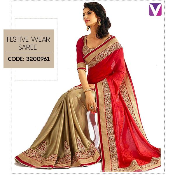 Sarees can never go out of Style! Be your ethereal self this Festive Wear! Shop it by Product Code - 3200961