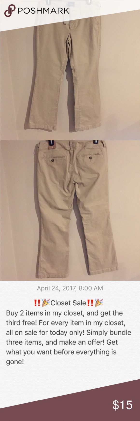 NWT American Eagle Pants Short Kick boot pants. Size 6 women's. Great pants. High quality. American Eagle Outfitters Pants Trousers