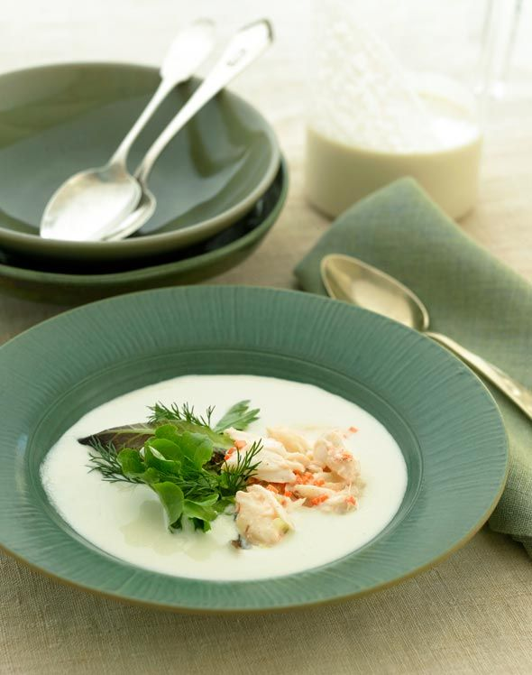 Portuguese White Gazpacho with Crab Recipe