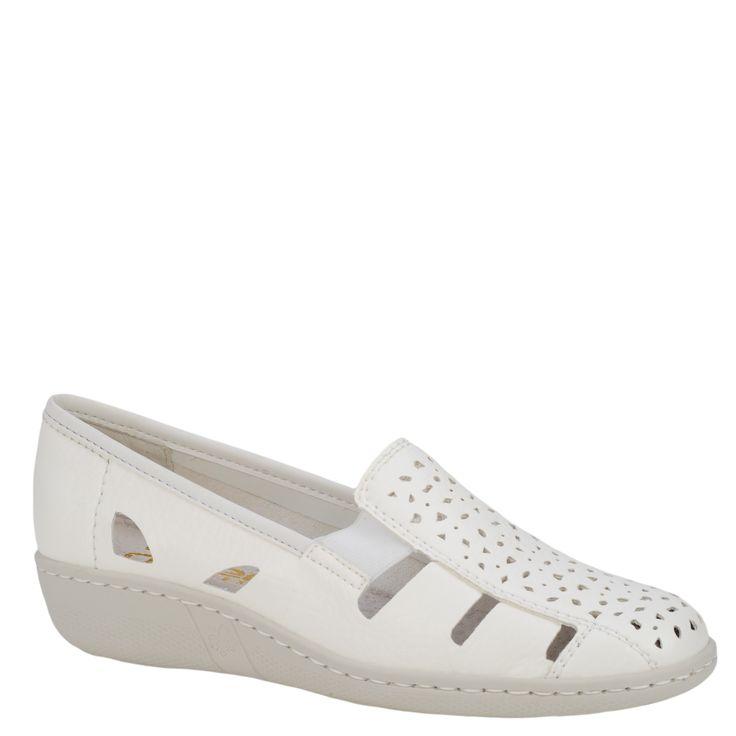 Pantofi casual dama Rieker alb