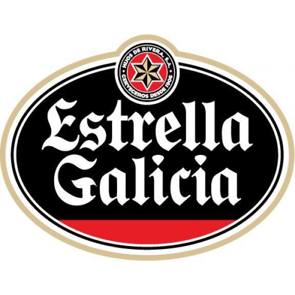 Logo Of Estrella Galicia With Images Beer Logo Beer Beer Label