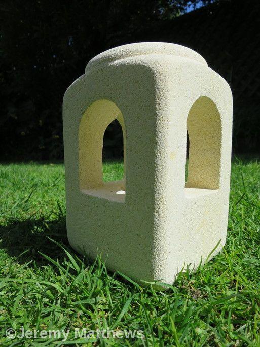 Lantern made from off-cut of Oamaru Stone