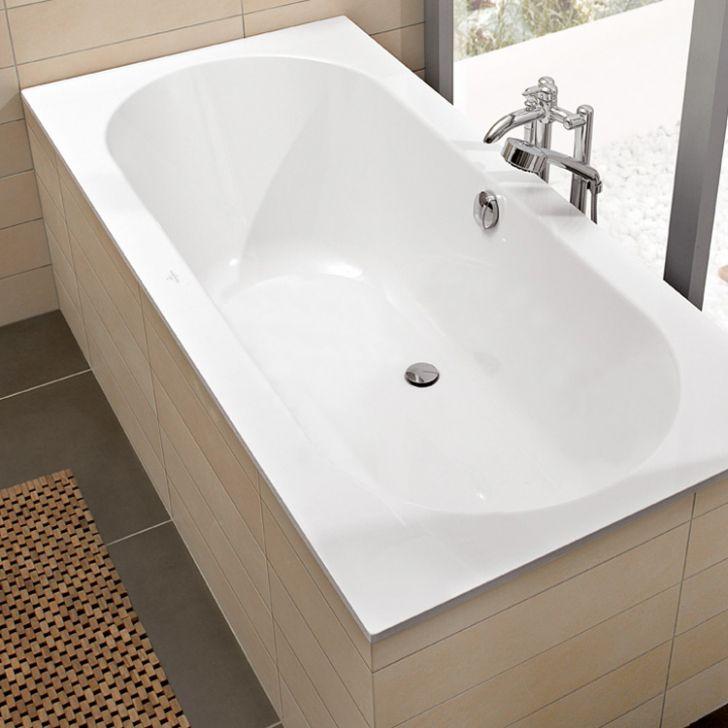 Baignoire 190x90 Baignoire Rectangulaire Oberon Duo 190x90 Quaryl Star White Inside Straight Baths Steel Bath Villeroy Boch