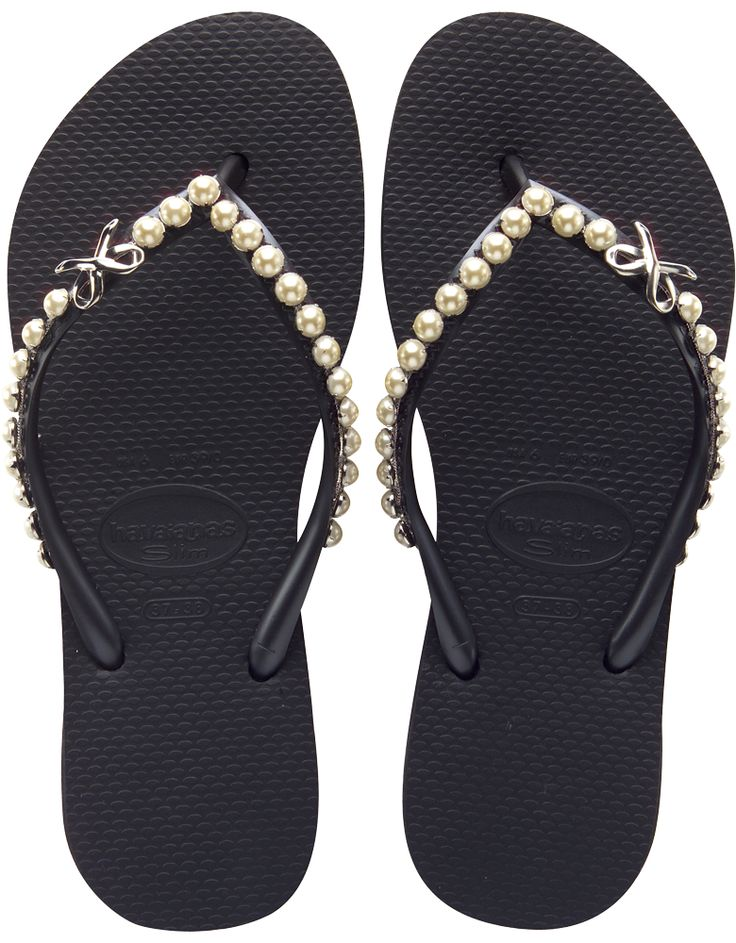 HAVAIANAS SLIM PEARL MESH BLACKSS Get it here: http://bit.ly/1ixHIA6