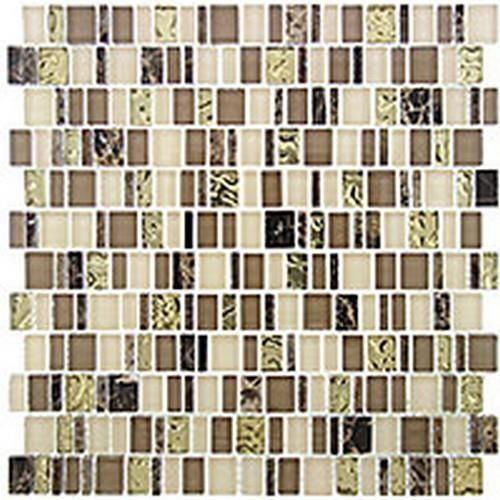 Glass Enchanted Flavors Series Divine Strudel Tile  www.arcstoneandtile.com