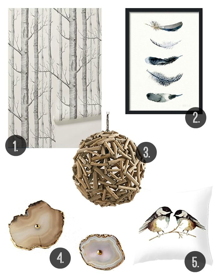 In love with these ideas for incorporating nature-inspired items into your decor!