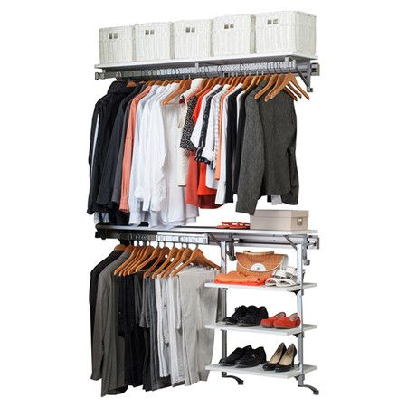 Found It At Wayfair   Arrange A Space Select Closet System In Polished  Chrome 287.99 Free
