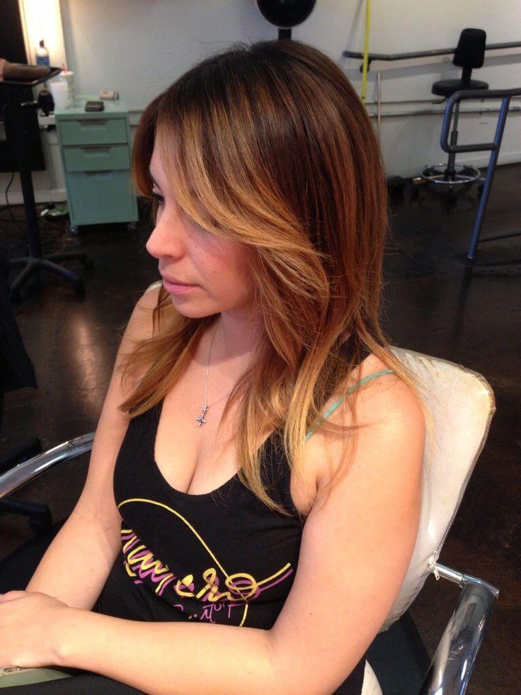 Andrea Miller LeFevre hair. Balayage. Ombre. Golden brown. Sun kissed. Natural highlights. Andreamillerhair.com