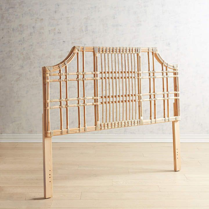 Pier 1 Imports Sungi Natural Rattan Queen Headboard Rattan
