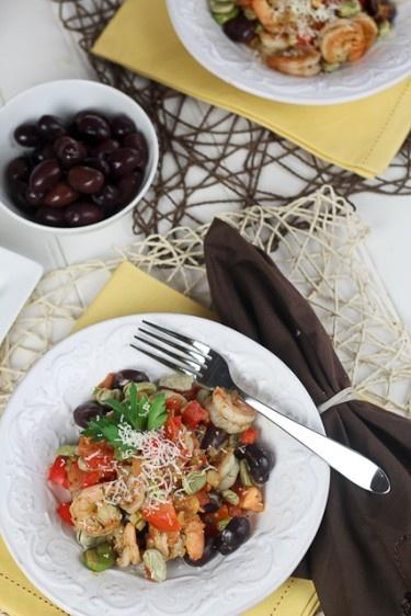 Kalamata olives, Shrimp and Beans on Pinterest