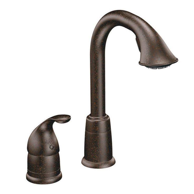 Shop Moen Camerist Oil Rubbed Bronze Handle Kitchen Faucet Lowes Vestige  High Arc