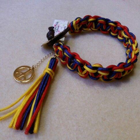 58e0b7e5dff5 Pulsera tricolor  pazenvenezuela s.o.s.