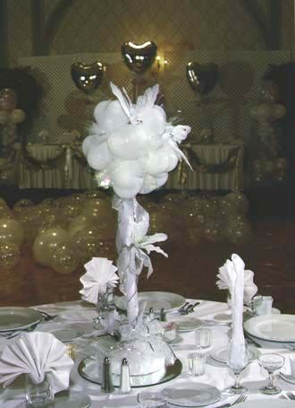 90 best centerpiece inspiration images on pinterest for Balloon decoration for wedding receptions