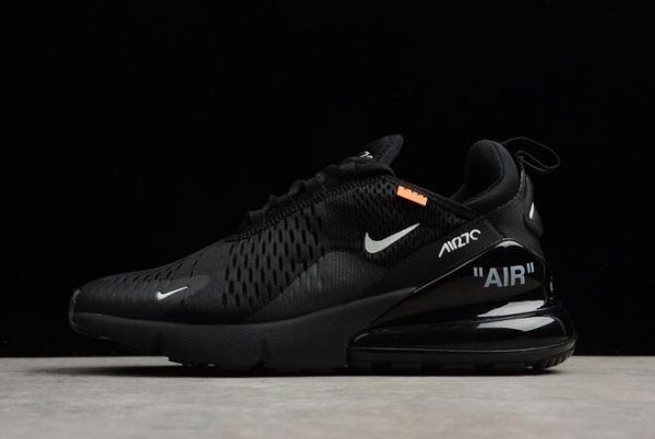 Virgil Abloh S Off White X Nike Air Max 270 All Black Running Shoes Black Running Shoes Nike Air Max All Black Running Shoes