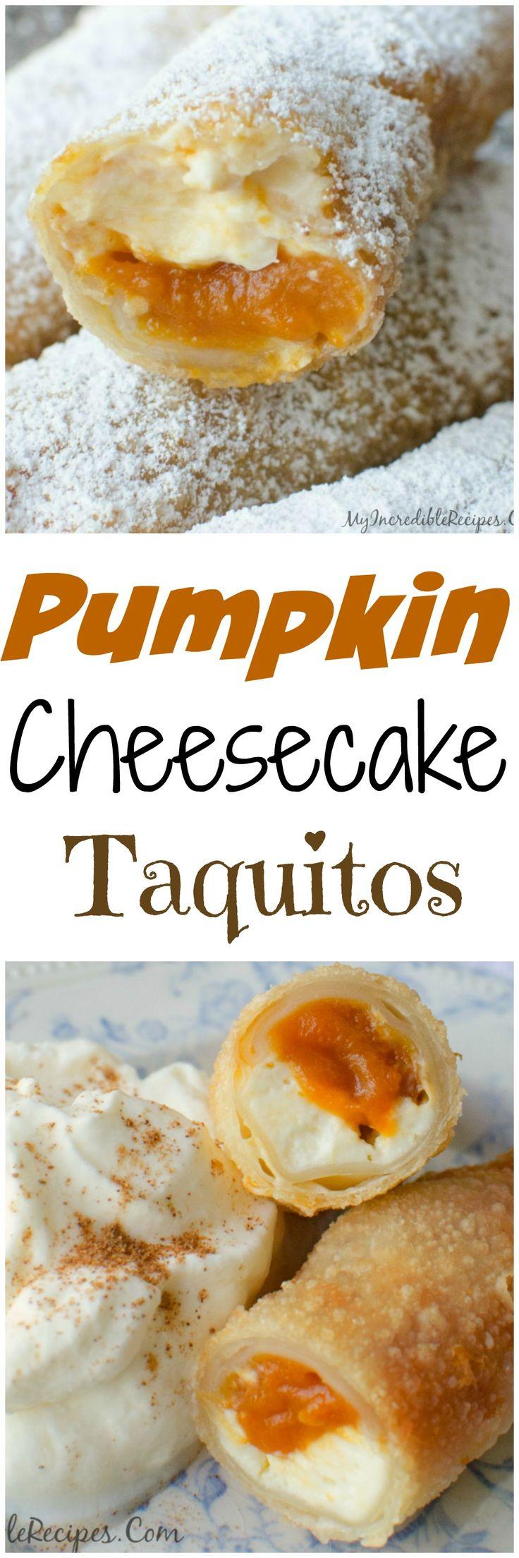 Pumpkin Cheesecake Taquitos!
