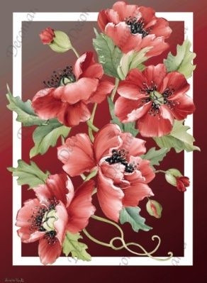 Poppies - Decoupage paper from Decomania