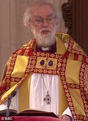 Dr Rowan Williams, Archbishop of Canterbury, in 2012.