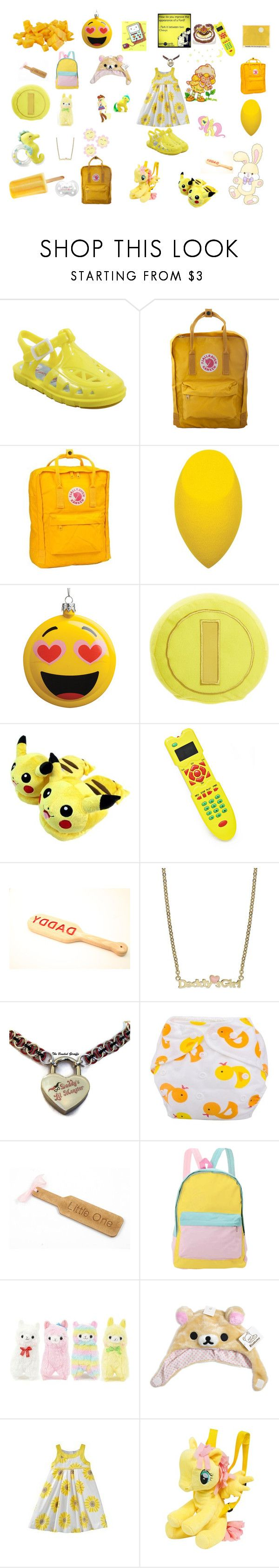 """""""sunny"""" by unicorn-923 ❤ liked on Polyvore featuring George, Fjällräven, Carter's, Nintendo, Disney, Lily Nily, cutekawaii, My Little Pony and Heartstrings"""