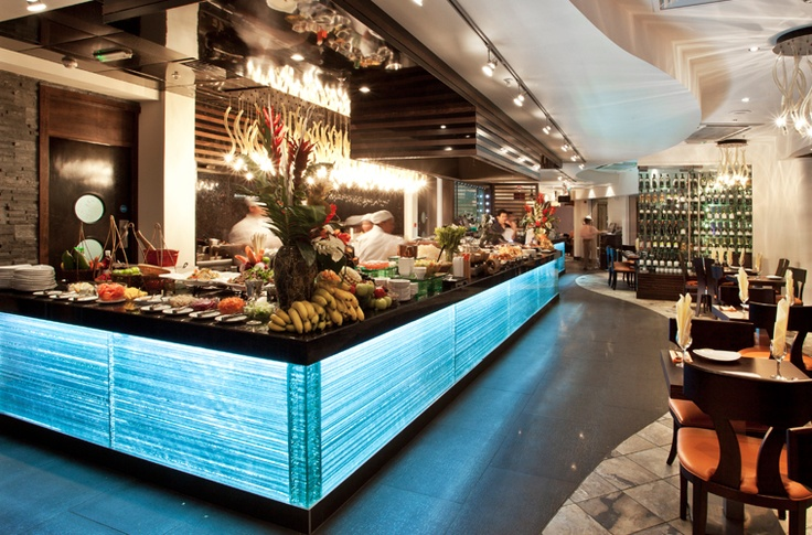 This is the servery and theatre kitchen that we created for Chaobaby in the Trafford Centre.