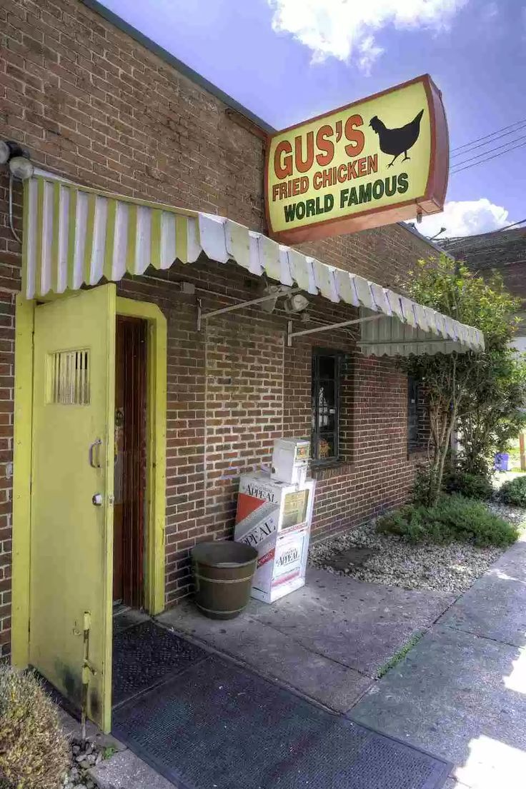 downtown memphis tennessee gus s famous fried chicken downtown memphis memphis restaurants memphis tennessee pinterest