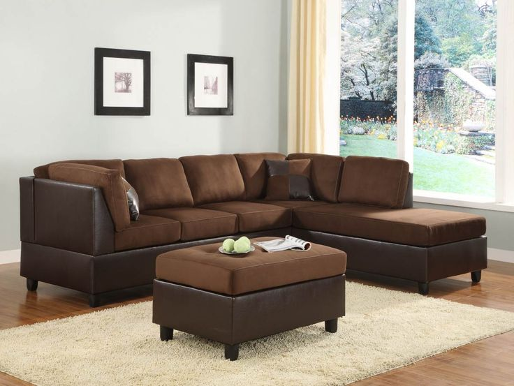 Sofa Slipcovers Comfort Living Chocolate Dark Brown Wood Pc Sectional Set