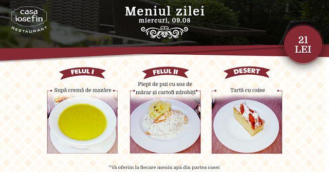 Restaurant Casa Iosefin Timisoara: Meniu Zilei 09.08