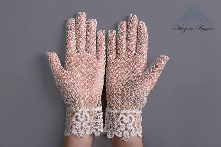 Кружевные перчатки Цветок любви Вологодское от MadamKruje на Etsy