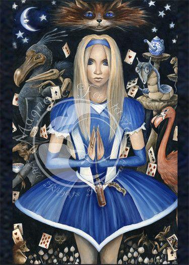 Marc Potts Alice in Wonderland 5x7 Art Magnet Print