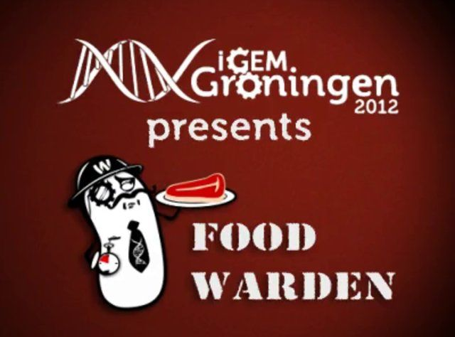 Winner of the Grand Prize at iGEM 2012 -> Food Warden - iGEM Groningen 2012 by iGEM Groningen 2012. The Food Warden is a system which detects meat spoilage. It uses Bacillus subtilis cells. Their natural genetic response to the gases of rotten meat has been identified and linked to a pigment production system. In this way, a consumer can easily see when the meat is spoiled: it's rotten and you know it!