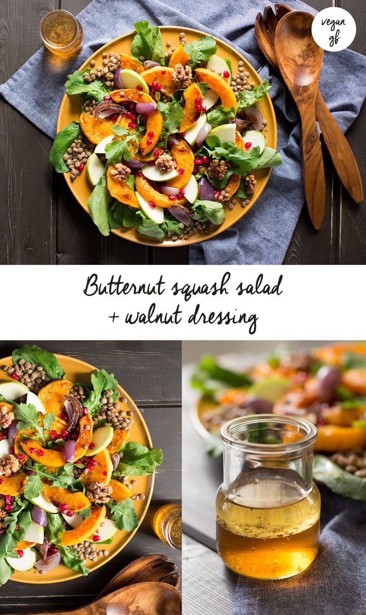 A #delicious warm #salad with our fav #pumpkin - butternut squash - and a handful of other #autumn ingredients. It's #vegan and #glutenfree too! #recipe #recipes #lunch #dinner #vegetarian