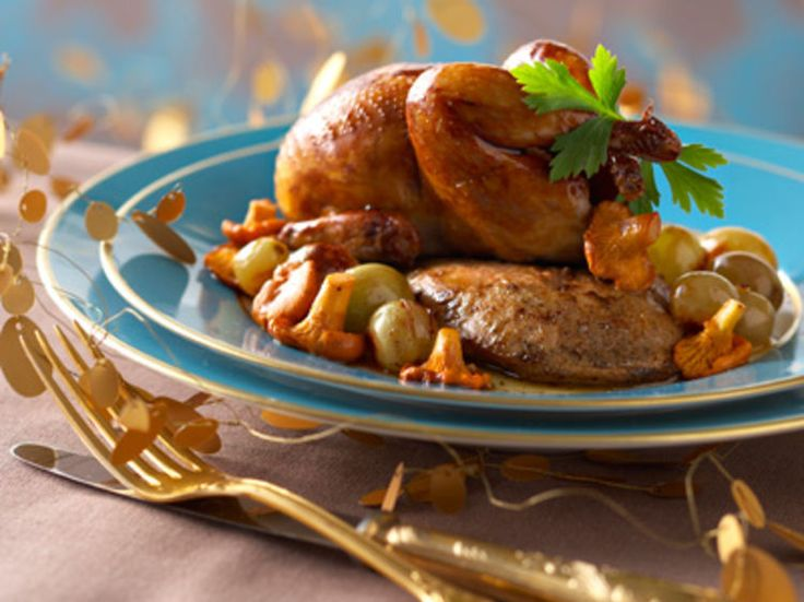 Découvrez la recette Cailles rôties au foie gras sur cuisineactuelle.fr.