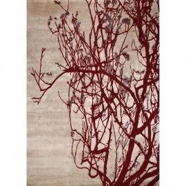 Бордовый ковер Весеняя вишня Spring Cherry