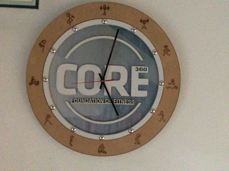 Made this wall clock for a local Gym.
