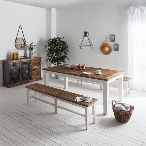 Table A Manger Balignton Ii Pin Massif Home24 Fr Decoration Maison Banc Salle A Manger Table Salle A Manger