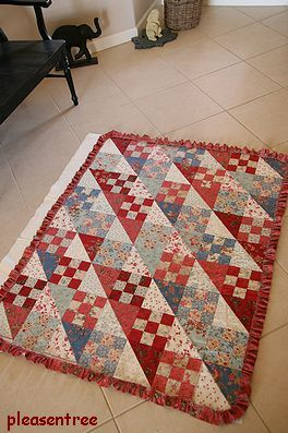 """Country Charm"""" @""""Country Inn"""" by BBD Fabrics: """"Rural Jardin"""" line by FG Block size: 6"""" finish Quilt Size: 42"""" x 54"""""""