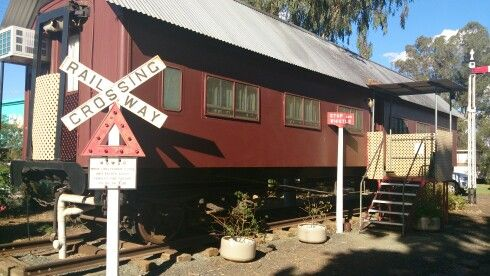 West Wyalong caravan park.  Highly recommended.