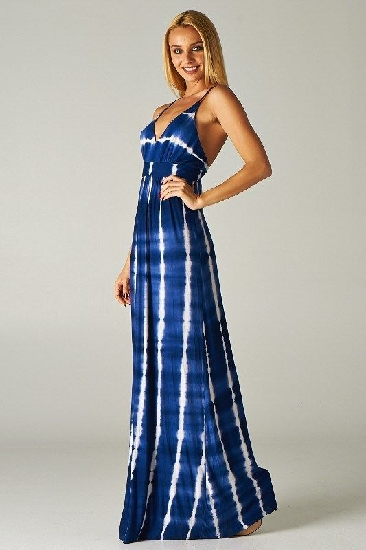 Cute tie dye maxi dresses