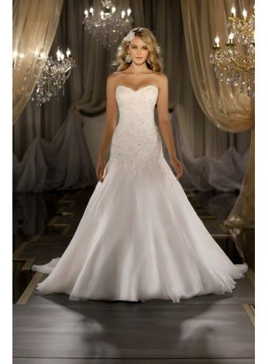 Fashion Beaded Chiffon Sweetheart Mermaid Bridal Gown 2013 - WEDDING DRESSES -Absolutely love this gown!