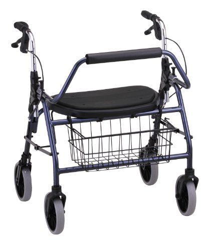 NOVA Medical Products Mighty Mack Heavy Duty Rolling Walker, Blue  http://www.personalcareclub.com/nova-medical-products-mighty-mack-heavy-duty-rolling-walker-blue/