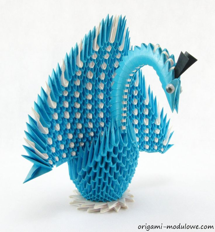 Modular Origami Swan #3 by origamimodulowe on DeviantArt