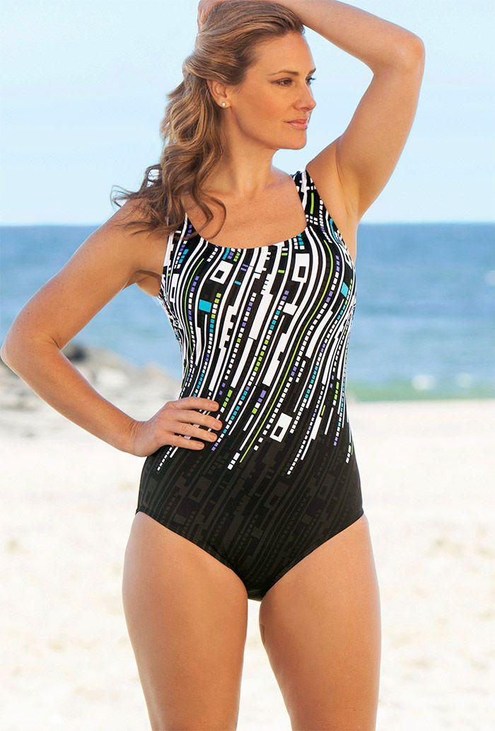 Delta Burke Swimwear Clearance | Delta Burke Skyline Tank Swimsuit