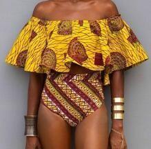 Pocket Girl 2017 Shoulder Off One Piece Swimsuit Swimwear Women Bathing Suit Vintage Summer Beach Monokini Brazilian Biquini