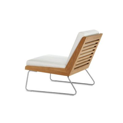 Boomerang Slipper Chair With Seat And Back Cushions From Summit Furniture.