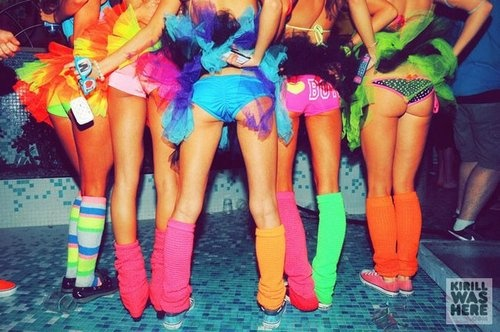 rave outfits neon colors and rave on pinterest