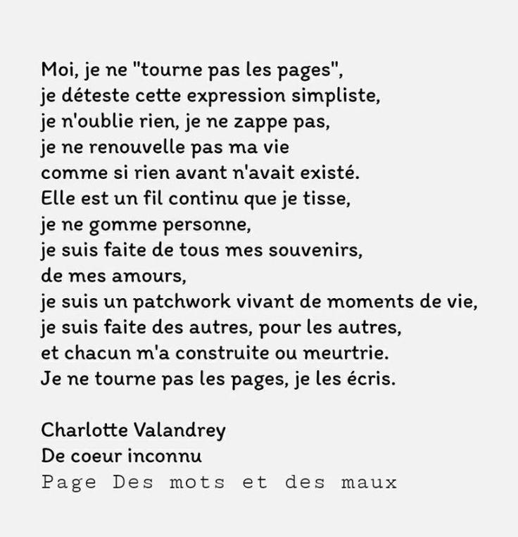 """Charlotte Valandray. """" Je ne tourne pas les pages, je les écris"""""""