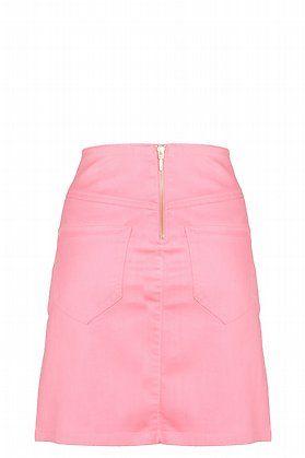 Falda recta con cremalleras