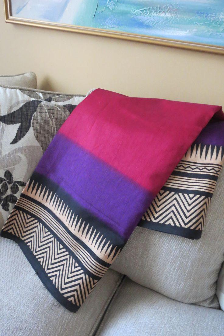 Tussar Silk Sari- Handloom Sari by ZainabBoutique on Etsy
