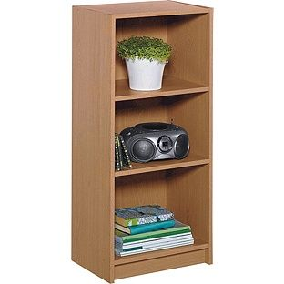 Maine Half Width Small Extra Deep Bookcase Oak Effect At Argos Co