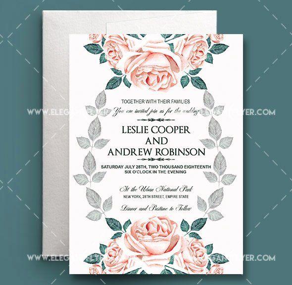 Wedding Invitation Template Psd Luxury 75 Free Must Have In 2020 Wedding Invitation Templates Free Wedding Invitation Templates Wedding Invitations Printable Templates