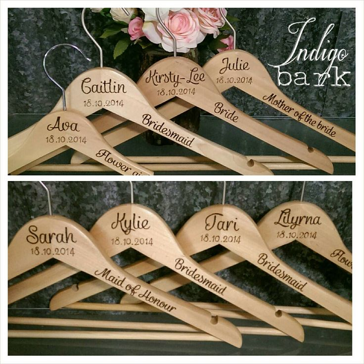 Personalised Wooden Coat Hangers by IndigoBark on Etsy https://www.etsy.com/listing/200195756/personalised-wooden-coat-hangers